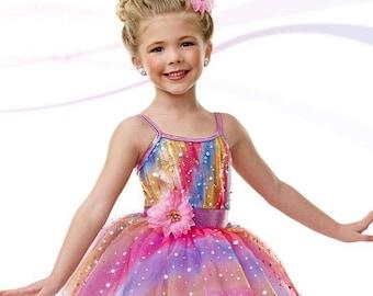 "Rainbow Tutu Costume ""Bubbles"""