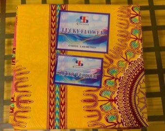 Canary Yellow Dashiki Fabric