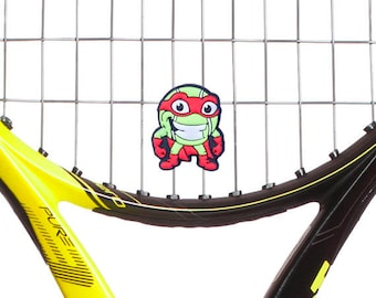 SuperHero Kids Cute Tennis Racket Vibration Dampener 2-Pack by Racket Expressions. Great tennis gifts for kids!