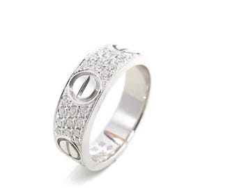 Cartier Inspired Love Ring, Custom Made, 18k Gold, Diamond band, Luxury
