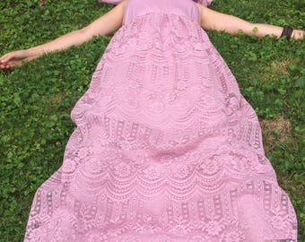 Bublegum Vintage Lace Maxi Dress