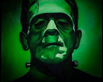 Frankenstein's Monster Art Print, movie art, mounted, 8x10 inch art