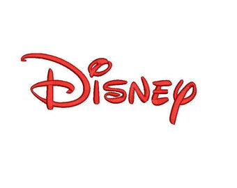 Disney embroidery font PES file 4 sizes instant download