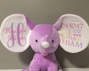 Custom Elephant Birth Announcement