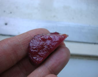 rough ruby, glass filled, 81.6 ct