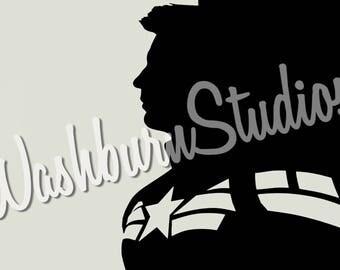 Captain America Winter Soldier Graphic Art Print