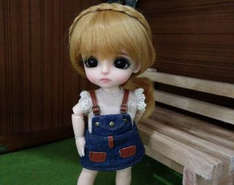 Lovely Jean Overalls for lati yellow/ PukiFee bjd
