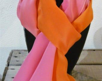 Silk crepe scarf
