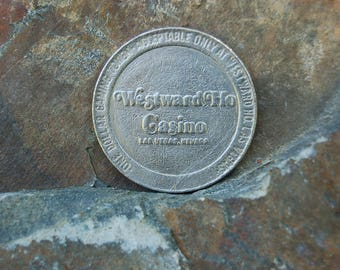 Westward Ho Casino 1979 Silver Dollar Gaming Token, Las Vegas, Coin, Gambling