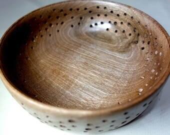 Claro Walnut See Through Bowl - Dots