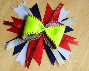 Softball Pony Bow