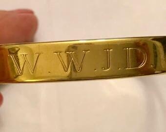 Vintage or Newer Genuine Copper W.W.J.D What Would Jesus Do Cuff Bracelet