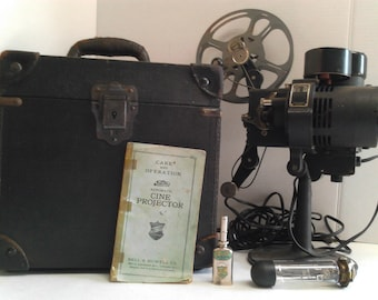 antique 1927 filmo automatic cine projector bell & Howell company