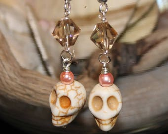 Skulls With Pink Pearls