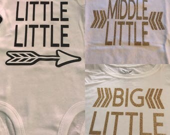 Sibling shirts little middle big