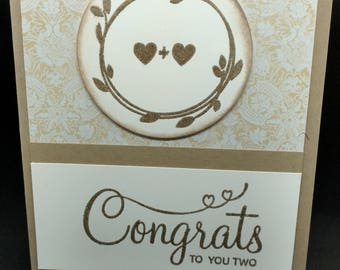 Congrats to You Two Wedding Card