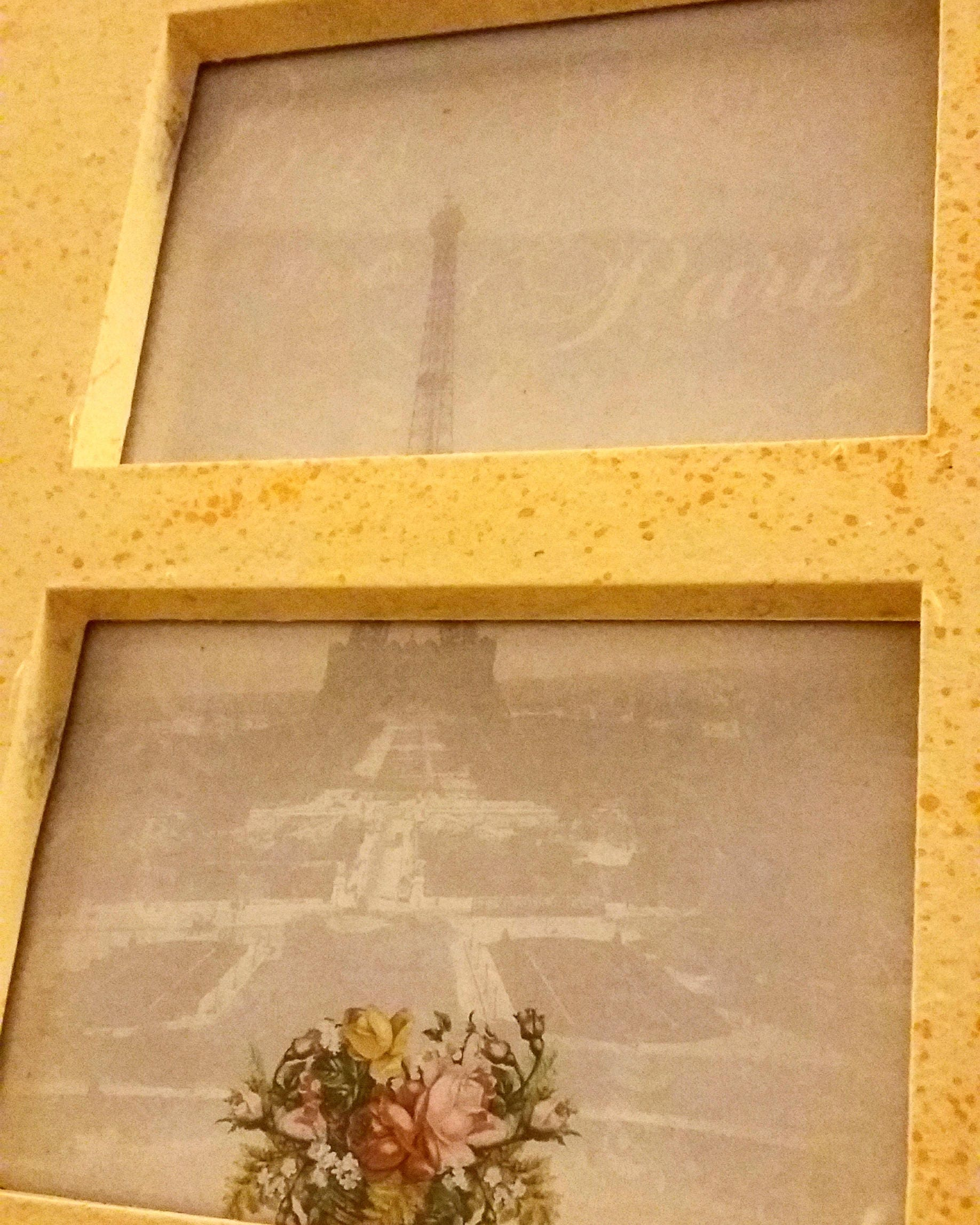 Vintage Paris 1900\'s Romantic Couple Wall Decor Wall Hanging Framed ...