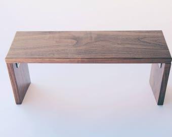 Handcrafted Portable Meditation Bench (Walnut)