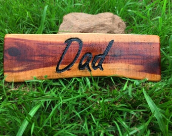 Father's Day Gift - Handcrafted Cedar Sign,Engraved and Painted by hand!