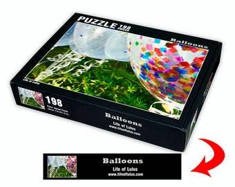 198 piece jigsaw puzzle - Balloons