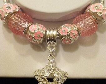 Pink Starlet Charm Bracelet