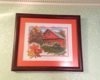picture thread embroidered handmade series of paintings wonderful autumn season picture for the kitchen or the living room