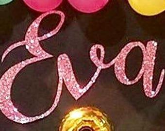 Custom Name with Glitter