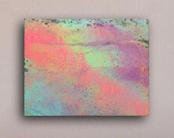 Wall Art Neon Contemporary Original Art Painting Abstract Home Office Decor