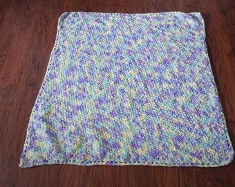 Baby girl blanket-lilac/aqua/yellow
