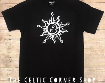 Sun and Moon Celtic Tshirt SM32215