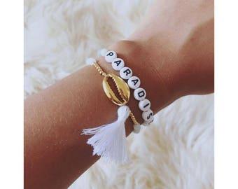 PARADISE bracelet & shell pendants