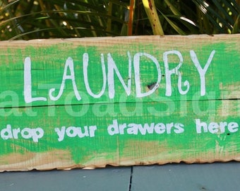 Laundry Room, Reclaimed Timber Sign, Rustic, Wood Sign, Hand Painted, Handmade, Gift Ideas, Fun Signs, Shabby Chic