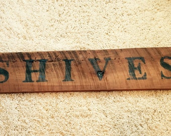 Barnwood Sign with Last Name