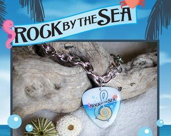 Rock by the Sea: Guitar Pick Charm Bracelet