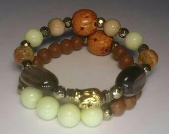 Sleeping Buddha Yoga bracelet set