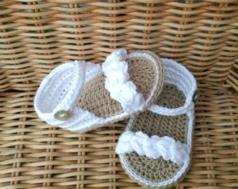 Shoes Sandals crochet for baby hand made