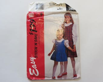Vintage 1960s McCall's Pattern #6081: Misses' Sheath Dress, Size B (6-8-10-12) Partially Cut