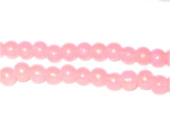 6mm Pink Pearlised Glass Bead approx. 74 beads