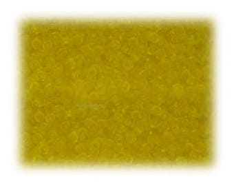 11/0 Sun Yellow Frosted Glass Seed Beads - 1 oz. Bag