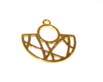 24mm Gold Elegant Metal Pendant - 3 pendants