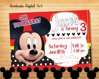 Mickey Mouse Invitation Digital