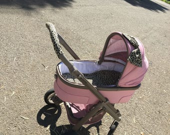 seat stroller liner with strap, stroller pad, pram strap covers, Bugaboo seat, baby carriers&wraps, stroller liner, Babyzen Yoyo, leopard