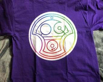 Rainbow Gallifreyan Lesbians Shirt