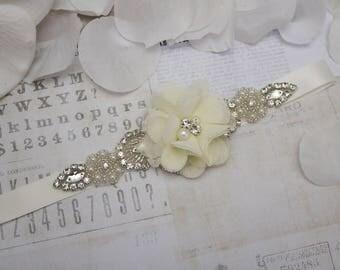 ivory flower girl  belt, ivory flower girl sash, belt sash, bridesmaid belt, wedding sash, crystal rhinestone belt, dress belt