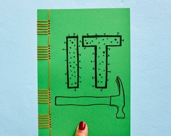 Green Nailed It  Notebook