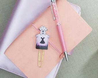 Designer Perfume Bottle Planner Paper Clips, TN Planner Charms, Fashion Planner clip, Cute Paperclips, Planner Stationary Accessories