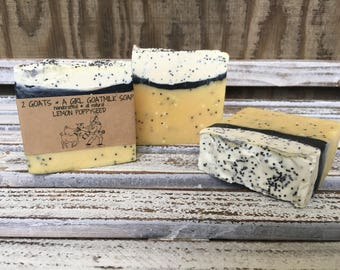 Goat Milk Soap Soothing Lemon and Poppy Seed