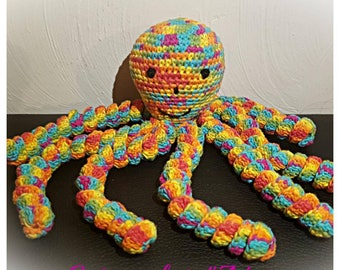 Octopus crochet with yarn Harlequin