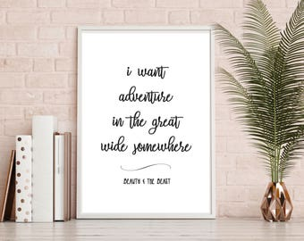 Beauty and the Beast, Belle, Disney Quotes, Film, A4 Print, Wall Decor, Wall Art, Home Decor