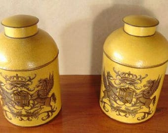 Pair of Toleware Cannisters